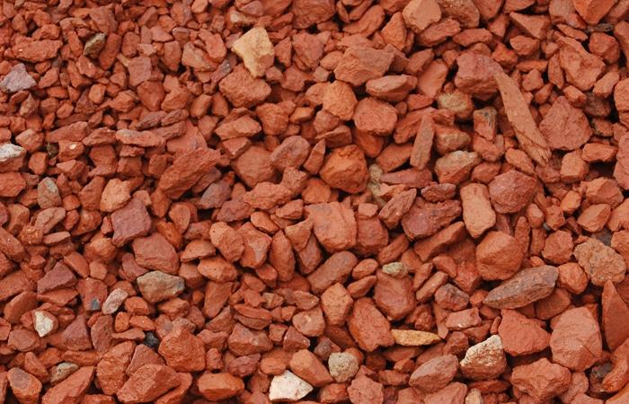 brick chips rocks